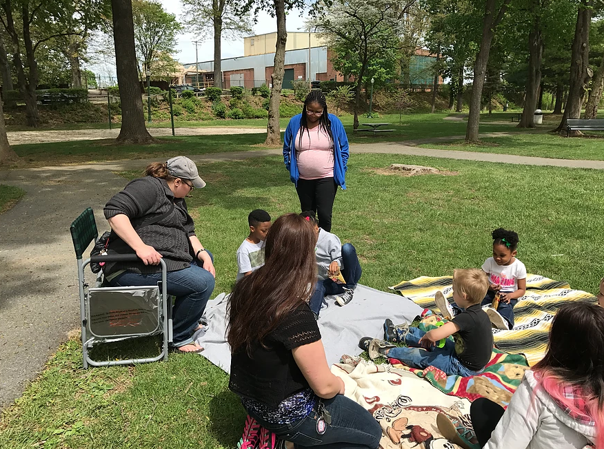 Story time in park